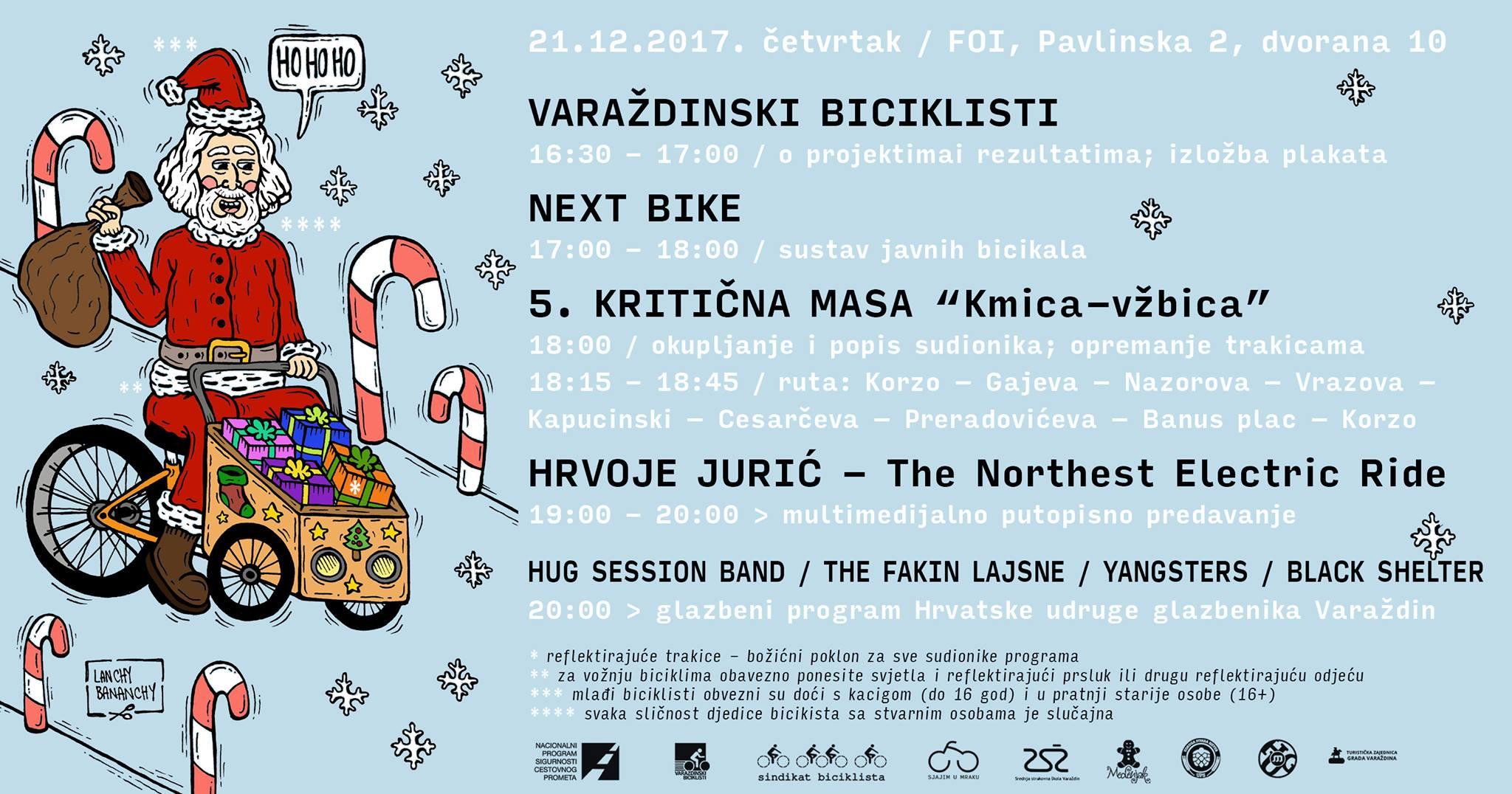 Plakat Varaždinski biciklisti Zimski solsticij